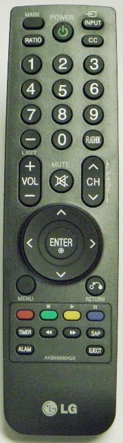LG AKB69680428 Original LG Remote Control (NEW) - Click Image to Close