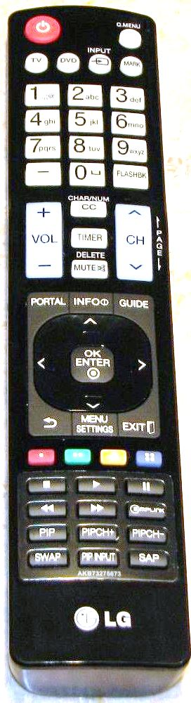 LG AKB73275673 TV Remote with Portal Button - Click Image to Close