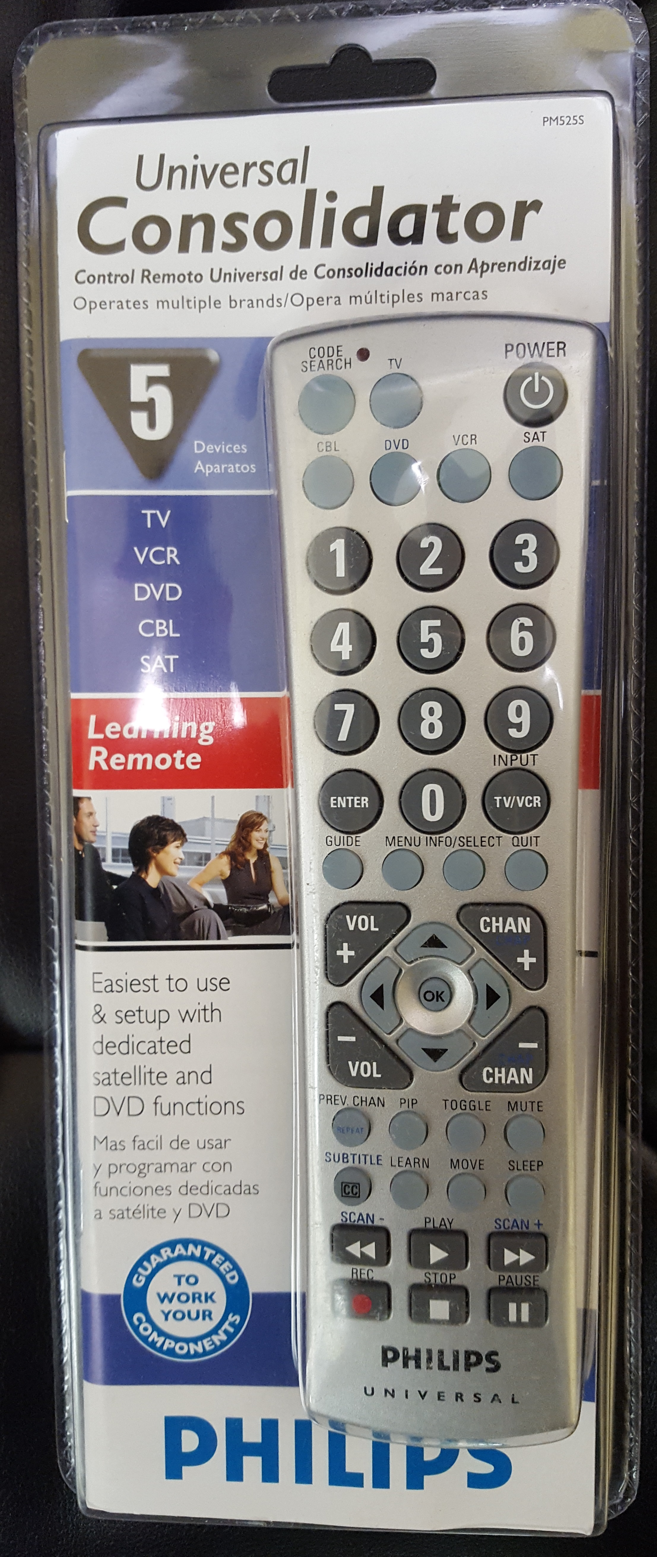 Philips Universal Remote - Learning Remote - model PM525S